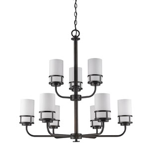 Alexis Oil Rubbed Bronze Nine-Light Chandelier