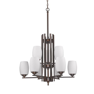 Sophia Oil Rubbed Bronze Nine-Light Chandelier
