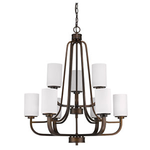 Addison Oil Rubbed Bronze Nine-Light Chandelier