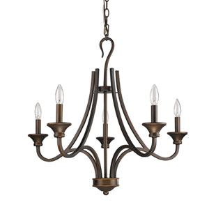Michelle Oil Rubbed Bronze Five-Light Chandelier
