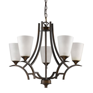 Zoey Oil Rubbed Bronze Five-Light Chandelier