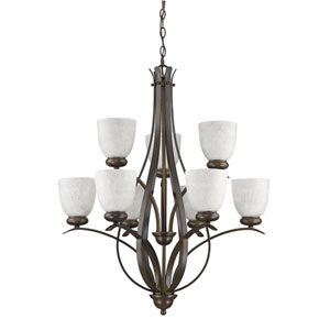 Alana Oil Rubbed Bronze Nine-Light Chandelier