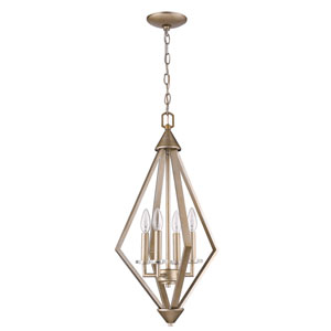 Easton Washed Gold 14-Inch Four-Light Chandelier