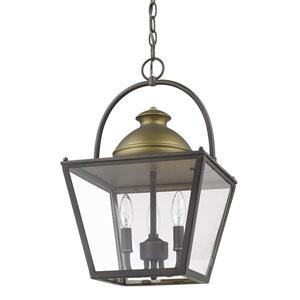 Savannah Oil Rubbed Bronze 12-Inch Three-Light Indoor Lantern