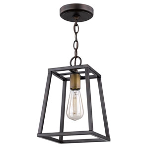 Tiberton Oil Rubbed Bronze 8-Inch One-Light Mini Pendant