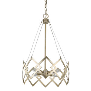 Nora Washed Gold 15-Inch Four-Light Chandelier