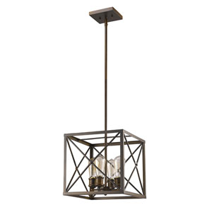 Brooklyn Oil Rubbed Bronze Four-Light Chandelier