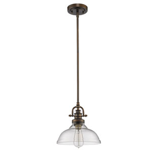 Virginia Oil Rubbed Bronze 10-Inch One-Light Mini Pendant