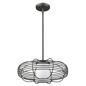 Loft Oil Rubbed Bronze 16-Inch One-Light Pendant