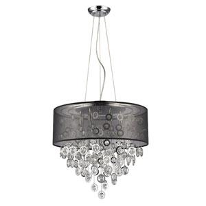 Florence Polished Nickel Six-Light Pendant