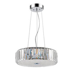 Erin Polished Nickel LED Pendant