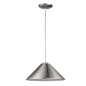 Alcove Satin Nickel One-Light Pendant