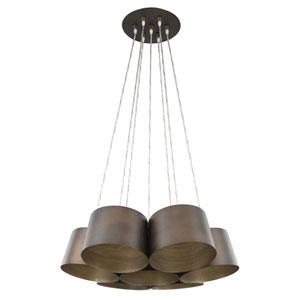 Luna Oil Rubbed Bronze 30-Inch Seven-Light Pendant