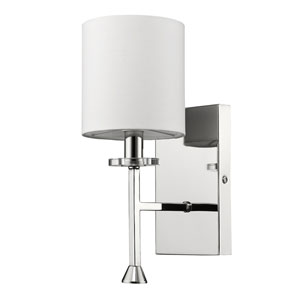 Kara Polished Nickel One-Light Wall Sconce