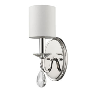 Lily Polished Nickel One-Light Wall Sconce