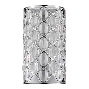 Isabella Polished Nickel Two-Light Wall Sconce