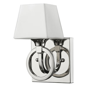 Josephine Polished Nickel One-Light Bath Sconce