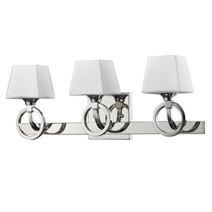 Josephine Polished Nickel Three-Light Bath Vanity