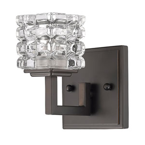 Coralie Oil Rubbed Bronze One-Light Bath Sconce