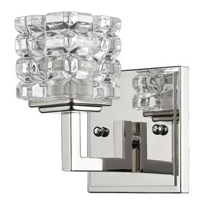 Coralie Polished Nickel One-Light Bath Sconce