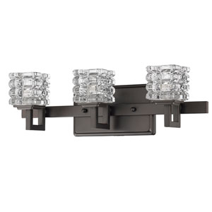 Coralie Oil Rubbed Bronze Three-Light Bath Vanity