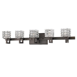 Coralie Oil Rubbed Bronze Five-Light Bath Vanity