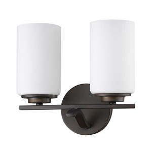 Poydras Oil Rubbed Bronze Two-Light Bath Vanity