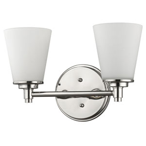 Conti Polished Nickel Two-Light Bath Vanity