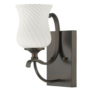 Evelyn Oil Rubbed Bronze One-Light Bath Sconce