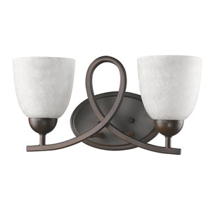 Toulouse Oil Rubbed Bronze Two-Light Bath Vanity