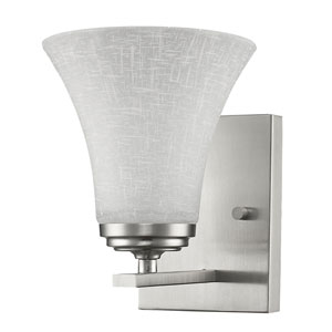 Union Satin Nickel One-Light Bath Sconce