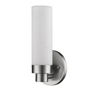 Valmont Satin Nickel One-Light Bath Sconce