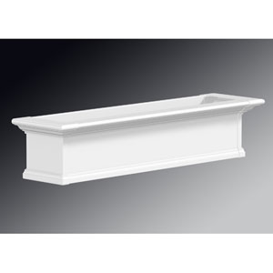 Yorkshire White 48-Inch Window Box