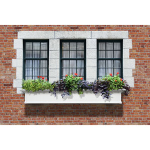 Yorkshire White 72-Inch Window Box
