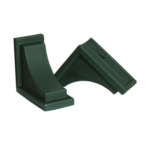 Nantucket Green Decorative Brackets, Set of Two