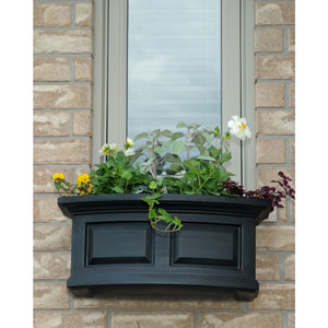 Nantucket Black 24-Inch Window Box