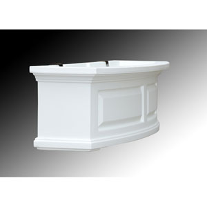 Nantucket White 24-Inch Window Box