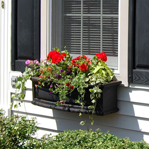 Nantucket Black 36-Inch Window Box