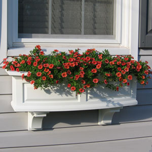 Nantucket White 36-Inch Window Box