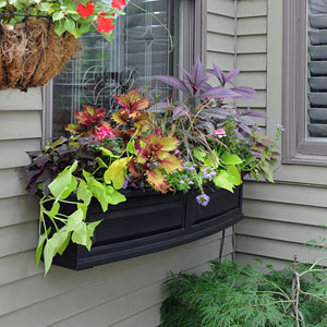 Nantucket Black 48-Inch Window Box
