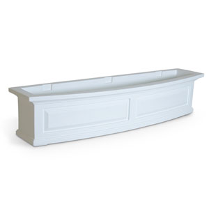 Nantucket White 48-Inch Window Box
