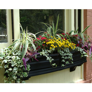 Nantucket Black 60-Inch Window Box