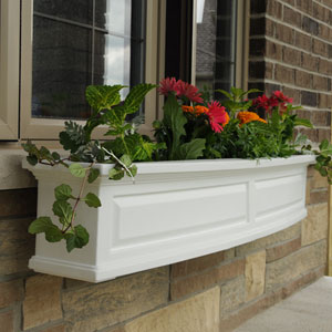 Nantucket White 60-Inch Window Box
