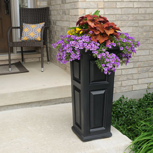 Nantucket Black Tall Planter