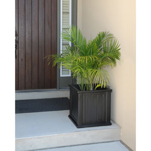Cape Cod Black Patio Planter 20 x 20 Inch