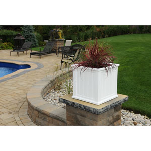 Cape Cod White Patio Planter 20 x 20 Inch