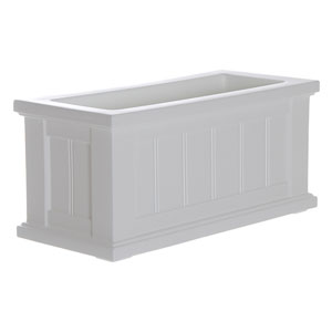 Cape Cod White Patio Planter 24 x 11 Inch