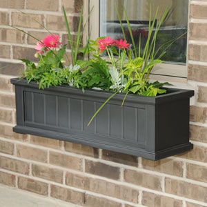 Cape Cod Black Three-Foot Window Box