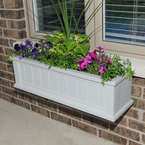 Cape Cod White Three-Foot Window Box