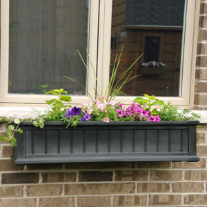 Cape Cod Black Four-Foot Window Box